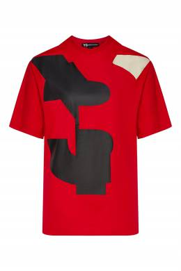 Красная футболка с логотипом Y-3 1044164001