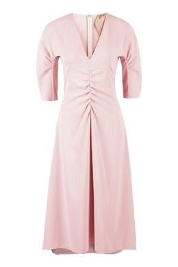 Розовое платье со сборками No. 21 35165292