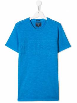 Woolrich Kids футболка с тисненым логотипом WKTEE1263