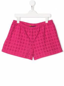 Ralph Lauren Kids шорты с цветочной вышивкой 313736009