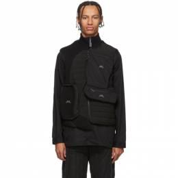 A-Cold-Wall* Black Asymmetrical 3D Pocket Puffer Vest 192891M18500102GB