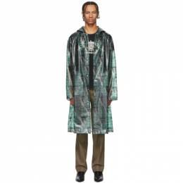 Undercover Green Valentino Edition Printed Long Rain Coat 192414M17602403GB