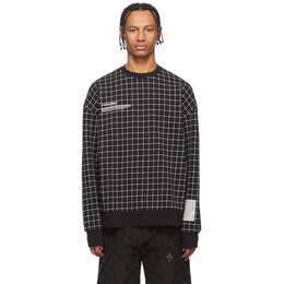 A-Cold-Wall* Black Grid Sweatshirt 192891M20400804GB