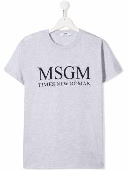 Msgm Kids футболка с логотипом 020263