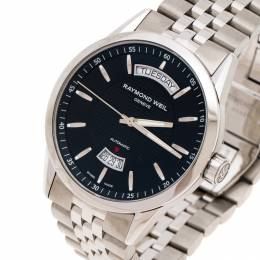 Raymond Weil Black Stainless Steel Freelancer 2720ST20021 Men's Wristwatch 42MM 243381