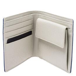 MCM Blue Leather Bifold Wallet 243357