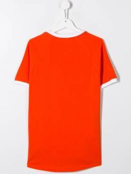 Kenzo Kids футболка с контрастной отделкой и логотипом KP1067837