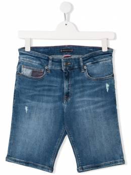 Tommy Hilfiger Junior джинсовые шорты с эффектом потертости KB0KB04963911