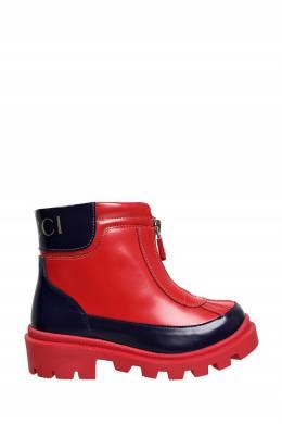 Красные сапоги на молнии Gucci Kids 1256164906