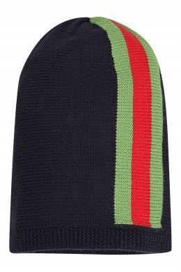 Черная шапка с полосками Gucci Kids 1256164862