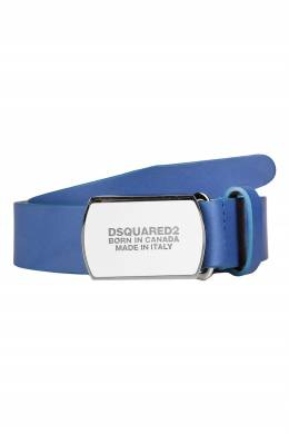 Синий ремень с металлической пряжкой Dsquared2 1706164823