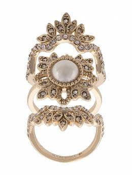 Marchesa Notte crystal embellished finger ring 9213A