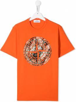 Stone Island Junior футболка с логотипом MO711621057