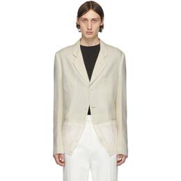 Haider Ackermann Off-White Knit Hem Blazer 192542M19500802GB