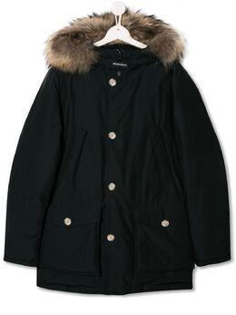 Woolrich Kids fur trim hood padded coat WKCPS2123UT0641T