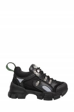 Комбинированные черные кроссовки с логотипами Gucci Kids 1256165604