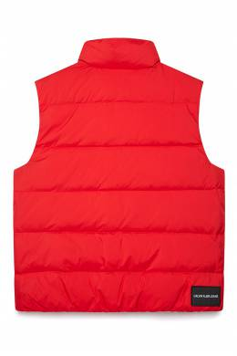 Стеганый жилет красного цвета Calvin Klein Jeans 2777165673