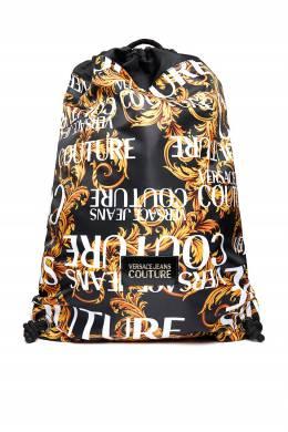 Рюкзак из текстиля с золотистым узором Versace Jeans 3025165835