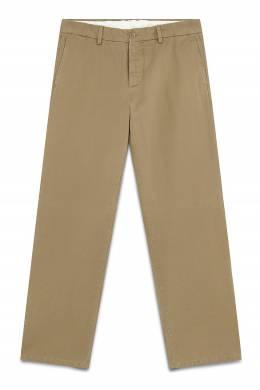 Бежевые брюки на пуговицах Maison Margiela 1350165853