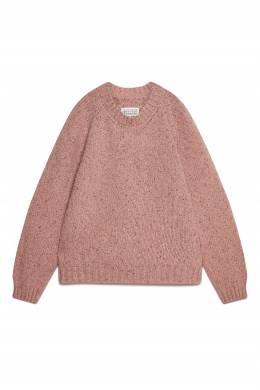 Розовый джемпер фактурной вязки Maison Margiela 1350165851