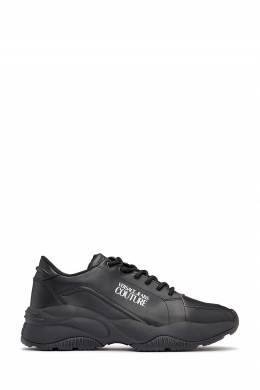 Черные кроссовки с рельефным узором Versace Jeans 3025165850