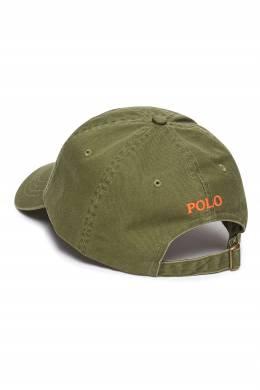 Зеленая бейсболка с вышивкой Polo Ralph Lauren 3023165642