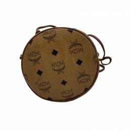 MCM Cognac Visetos Coated Canvas Bucket Shoulder Bag 245100