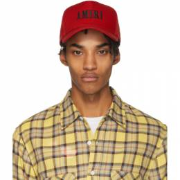 Amiri Red Logo Trucker Cap 201886M13908501GB