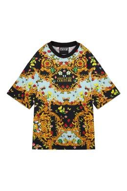 Разноцветная футболка Versace Jeans 3025166124