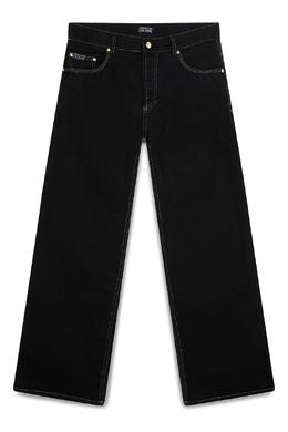 Черные прямые джинсы Versace Jeans 3025166129