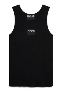 Черная трикотажная майка Versace Jeans 3025166119