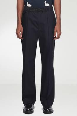 Синие брюки с ремешком Maison Margiela 1350165497