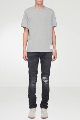 Серая футболка с меланжевой текстурой Thom Browne 2875165516