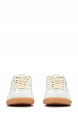 Белые кроссовки с серыми вставками Maison Margiela 1350165504