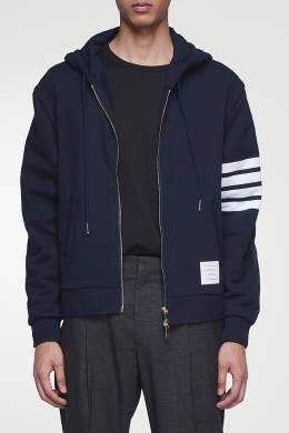 Темно-синее комбинированное худи с отделкой Thom Browne 2875165523
