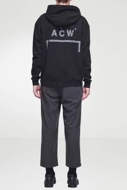 Черное худи с логотипами и нашивкой A-Cold-Wall* 2876165558