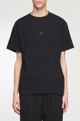 Черная футболка с логотипом и нашивкой A-Cold-Wall* 2876165560