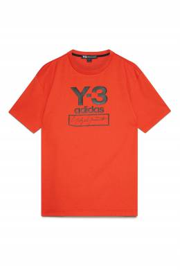 Оранжевая трикотажная футболка Y-3 1044166188