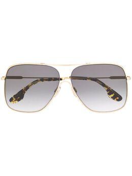 Victoria Beckham солнцезащитные очки в массивной оправе VB132S