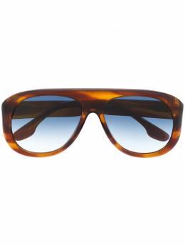 Victoria Beckham солнцезащитные очки в массивной оправе VB141S