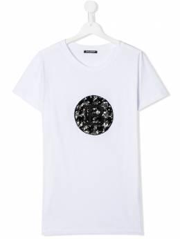 Balmain Kids футболка с пайетками 6M8011MX030