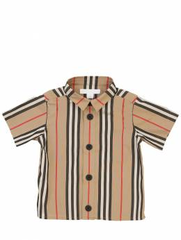 Icon S/s Striped Cotton Shirt Burberry 71I937016-QTcwMjY1