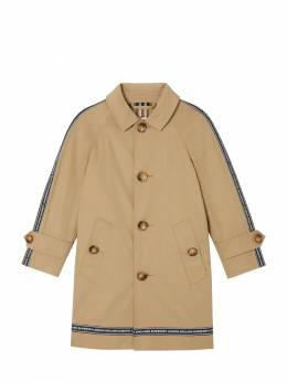 Logo Print Cotton Gabardine Trench Coat Burberry 71I91K002-QTEzNjY1