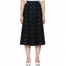 Christopher Kane Black Crepe Snap Skirt 192170F09200203GB