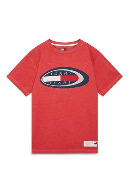 Красная футболка с принтом Tommy Jeans 2726165918