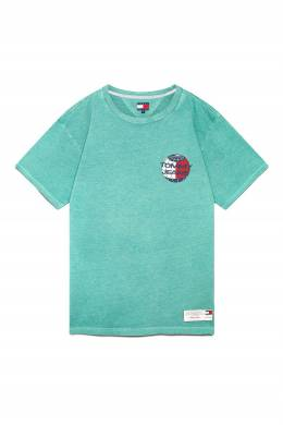 Бирюзовая футболка с логотипом Tommy Jeans 2726165917