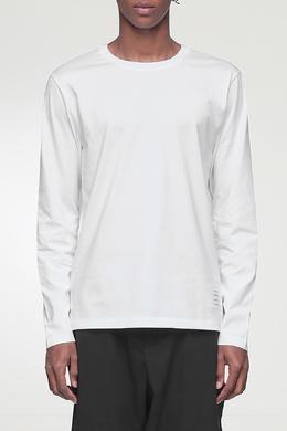 Базовый белый лонгслив с нашивкой Thom Browne 2875165519