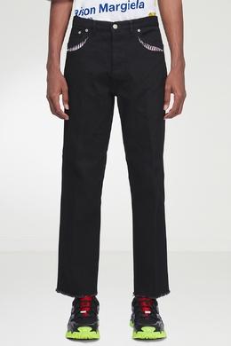Черные джинсы с контрастной отделкой Maison Margiela 1350165501