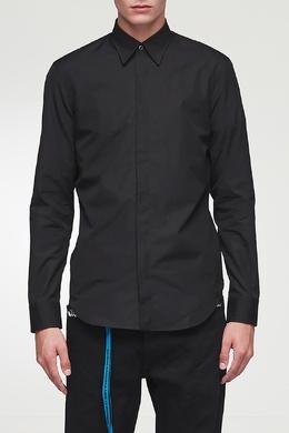 Базовая рубашка черного цвета Maison Margiela 1350165536