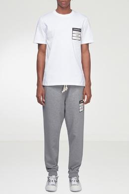 Белая футболка с отделкой Maison Margiela 1350165962